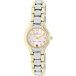 Anne Klein Women's 10-6777SVTT Silver Stainless-Steel Fashion Watch