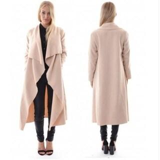 Long Sleeve Cardigan Trench Coat