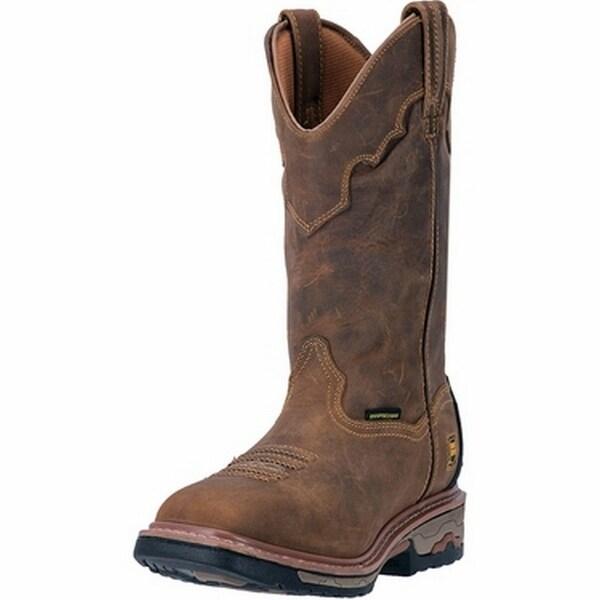 """Dan Post Work Boots Mens 11"""" Steel Toe Waterproof Sad Tan"""