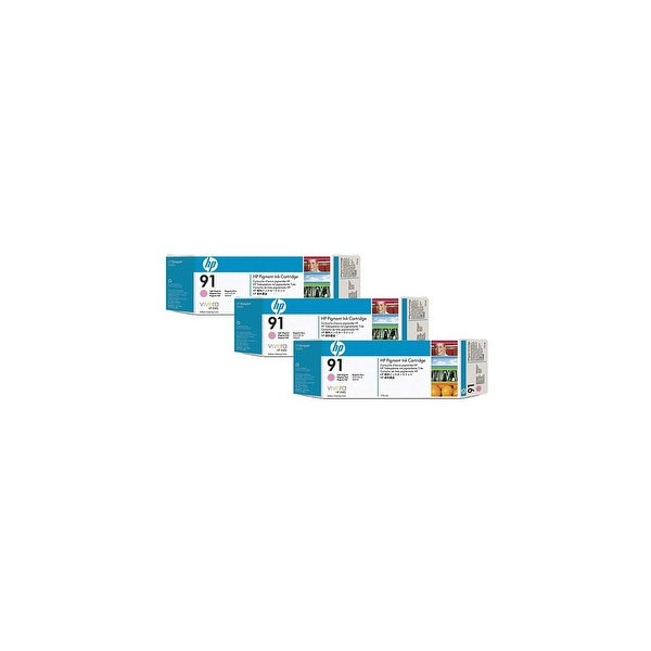 HP 91 775-ml 3 Light Magenta DesignJet Pigment Ink Cartridges (C9487A) (Single Pack)