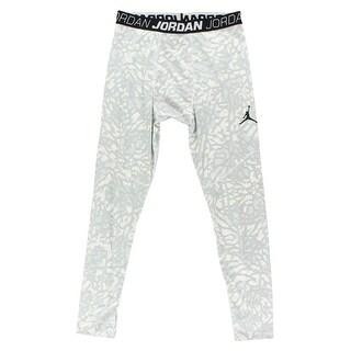 Jordan Mens Dominate Compression Tights Light Grey - light grey/white/black - XxL