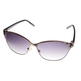 Esprit Womens Sunglass Cat Eye Metal Mosaic Black / White / Gold 19443 538 - Medium