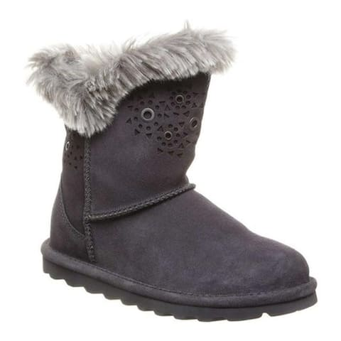 Bearpaw Women's Andrea Mid Calf Boot Charcoal Cow Suede