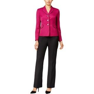 Le Suit Womens Pant Suit 2PC Flat Front
