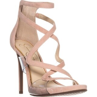 Jessica Simpson Roelyn Heeled Strappy Sandals, Nude Blush