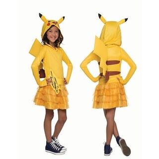 Girls Pokemon Pikachu Hoodie Dress Costume