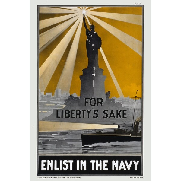 US Navy Enlist In The Navy - Vintage Advertisement (100% Cotton Towel Absorbent)