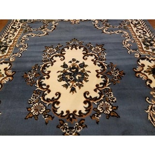 "Allstar Blue Woven High Quality Rug. Traditional. Persian. Flower. Western. Design Area Rug (5' 2"" x 7' 1"")"