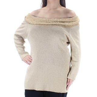 f5a60bbfa5 Quick View.  15.99. NY COLLECTION Womens Gold Metallic Long Sleeve ...