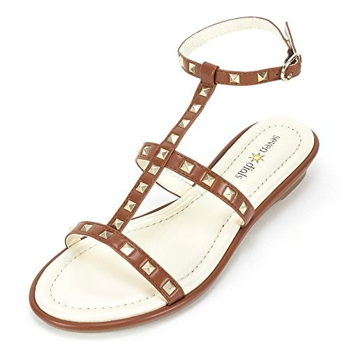 Seven Dials Candle Open Toe Synthetic Gladiator Sandal - 7.5
