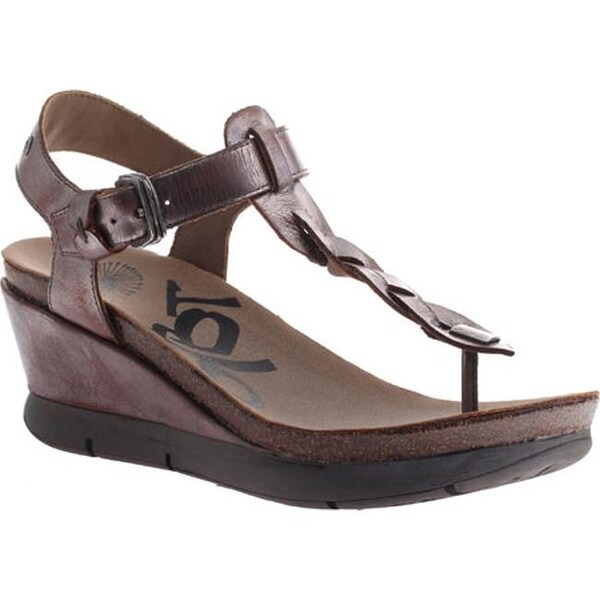 d134159a10f93 Shop OTBT Women s Graceville Wedge Sandal Pewter Leather - On Sale - Free  Shipping Today - Overstock - 10334035