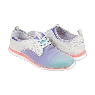 Cushe Shakra Womens Blue Textile Lace Up Sneakers Shoes