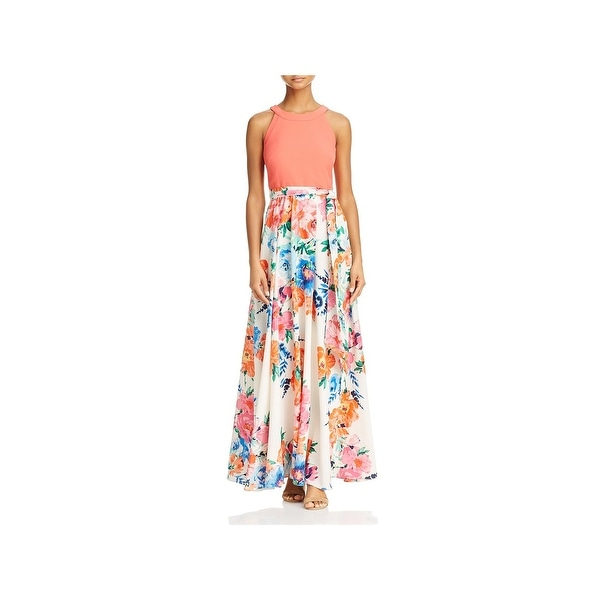 a8a3bfdd738 Shop Eliza J Womens Maxi Dress Floral Print Halter - Free Shipping ...