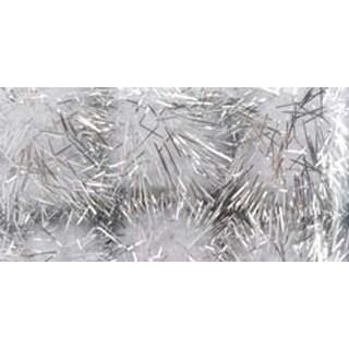 "White & Silver - Tinsel Pom-Poms 1"" 6/Pkg"