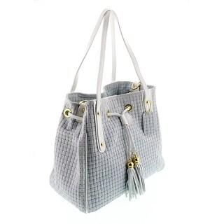 HS 2025 GG AGAPE Light Grey/White Leather Tote/Shopper Bags