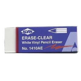 Alvin Vinyl Pencil Eraser, 2-1/2 X 7/8 X 1/2 in, White