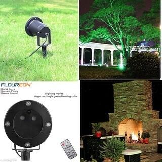 Outdoor Waterproof Red Green Laser Projector Light Garden Xmas Tree Decor+Remote