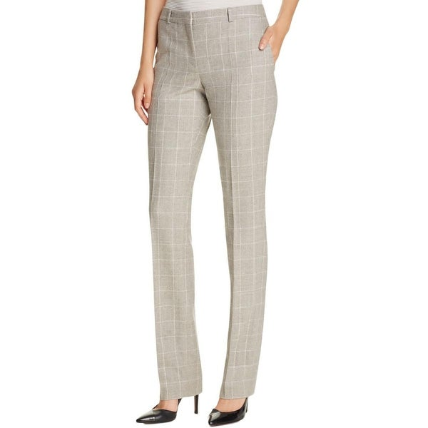 cc8950fe47 Shop Hugo Boss Womens Dress Pants Checkered Straight leg - Free Shipping  Today - Overstock - 18412845