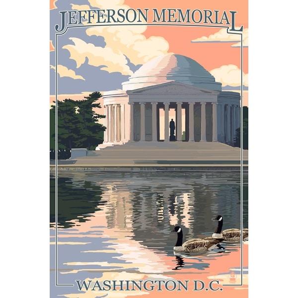 WA, DC - Jefferson Memorial - LP Artwork (Acrylic Wall Clock)
