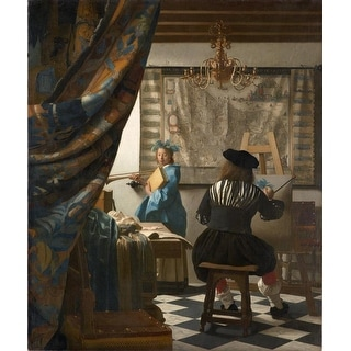 Easy Art Prints Johannes Vermeer's 'The Art of Painting' Premium Canvas Art
