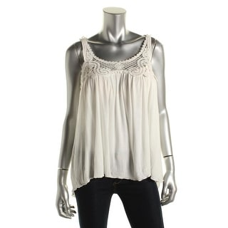Zara Trafaluc Womens Juniors Lace Racerback Tank Top