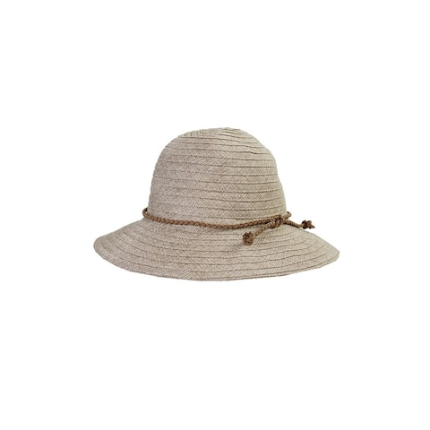 August Hat Brown Braided Band Fedora Hat OS