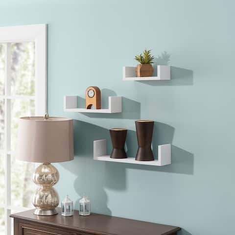Floating 'U' Shelves (Set of 3)