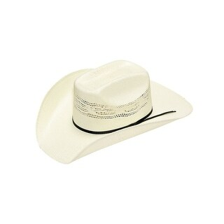 Twister Western Hat Boys Cattleman Ribbon Band Vented Natural T71598
