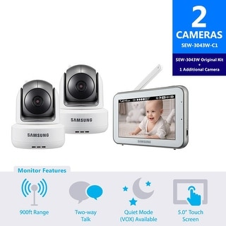 SEW-3043W-C1 - Samsung BrightVIEW Baby Video Monitoring System with 1 Additional Camera