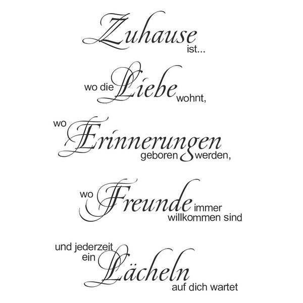 Unique Bargains German Pattern Removable Quote Wall Sticker Beedroom Mural Art Decal Home Decor