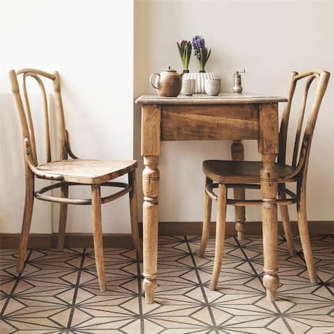 SomerTile 8.63 x 9.88-Inch Geo Granos Hex Brown Porcelain Floor and Wall Tile