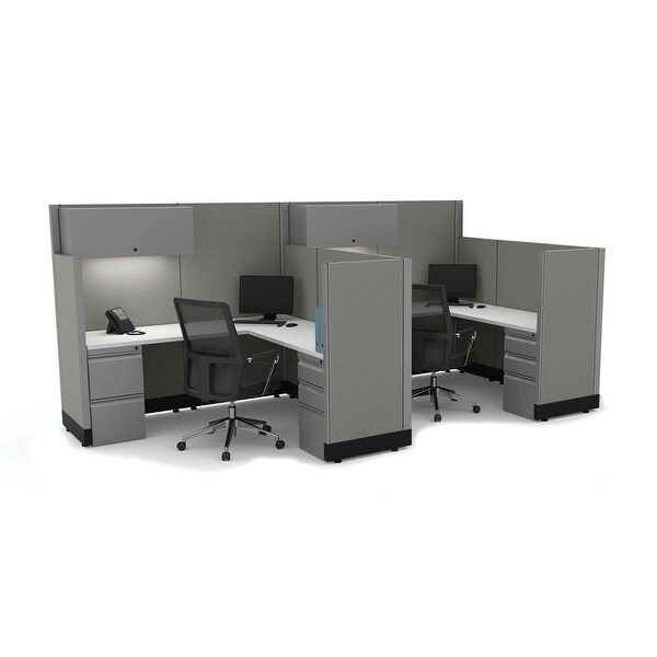 Modern Office Furniture 53-67H 2pack Inline Unpowered. Opens flyout.