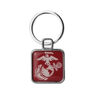 US Marine EGA Square Key Ring - 1-1/4 inch
