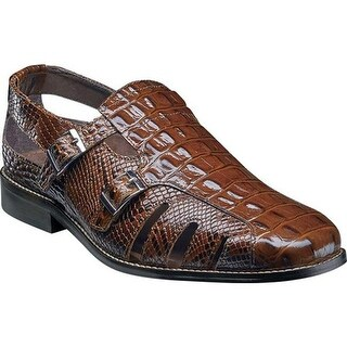 Stacy Adams Men's Seneca Fisherman Sandal 25169 Cognac Leather
