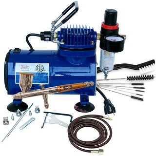 Paasche TG-100D Gravity Feed Airbrush & Compressor Package for TG-3F, D500SR & AC