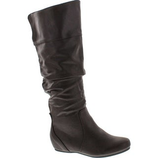 Soda Womens Tail Classic Soft Slouchy Flat To Low Heel Knee High Boots