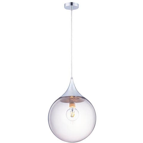 Archiology Modern Pendant Lamp Smoke Coating Glass Shade - Clear