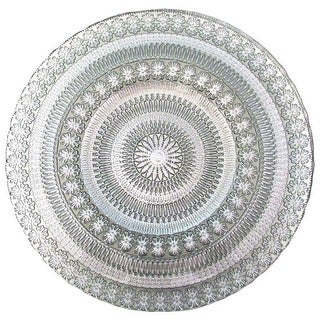 Red Pomegranate 7357-2 Florence Charger Plate, Silver - Set of 4