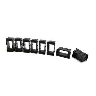 8Pcs Black Plastic Car Vehicle Power Window Switch Button Cover Frame