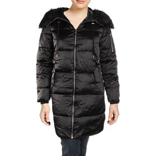 Jessica Simpson Womens Plus Puffer Coat Winter Water Resistant