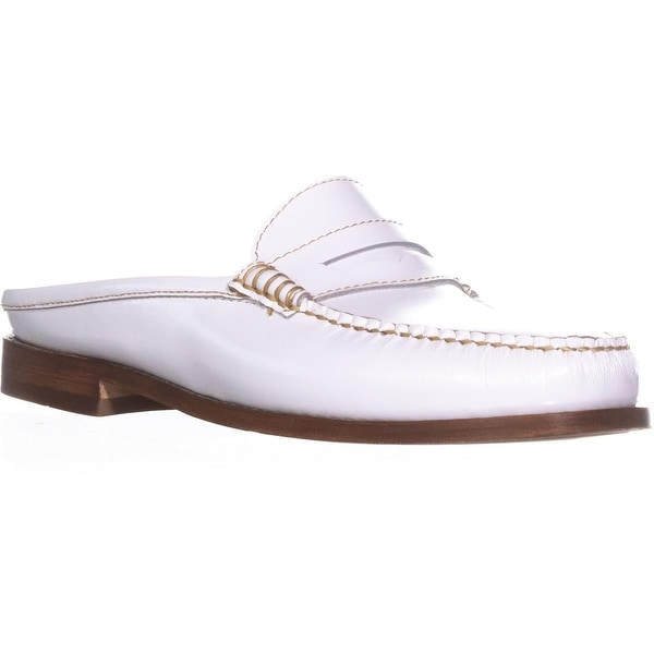 G.H. Bass & Co. Wynn Mules, White - 8 us