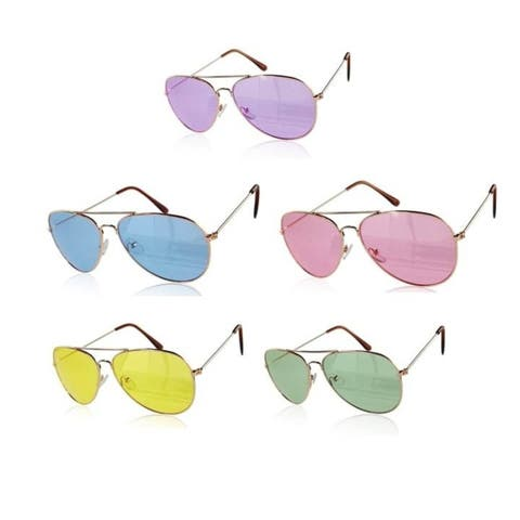 Excellent Reflective Men Women Outdoor Sunglasses Colorful Lens Metal Frame Glasses