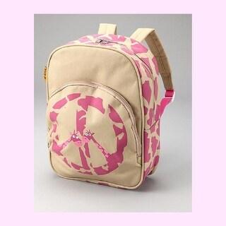 D and N Kids Girls Pink Peace Giraffe Zipper Compartment Backpack