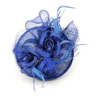C.C. Womens Feathered Fascinator Cocktail Hat - o/s