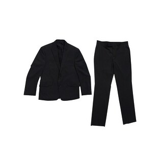 Kenneth Cole Reaction Men's Peak Lapel Slim-Fit Suit (40S W33, Charcoal Tonal) - charcoal tonal - 40s w33