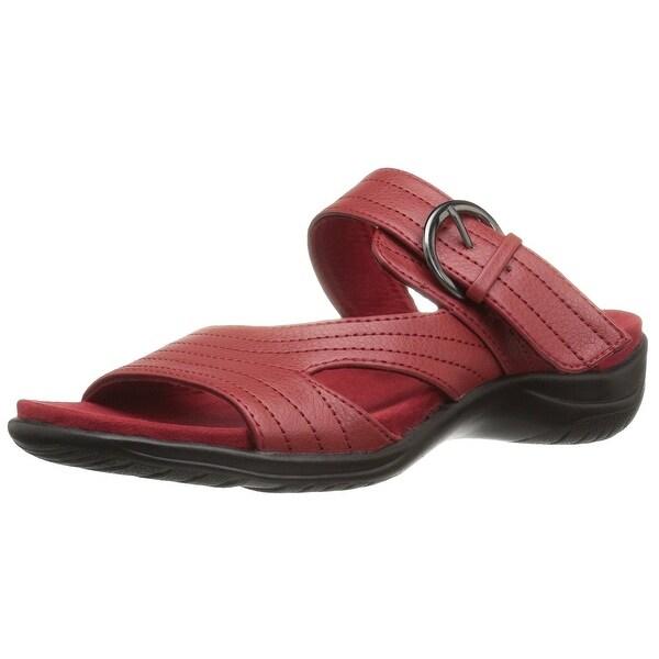 Easy Street Womens flicker Open Toe Casual Slide Sandals