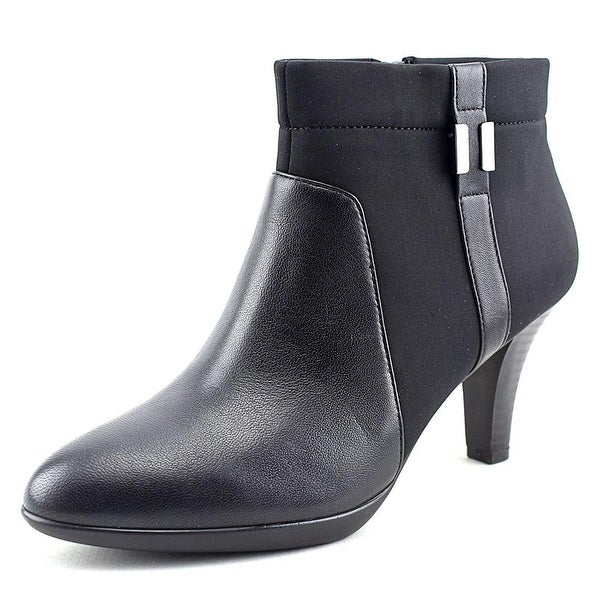 Alfani Venah Women Round Toe Canvas Black Ankle Boot - 10