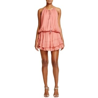 Elizabeth and James Womens Kenji Casual Dress Ruffled Crinkled