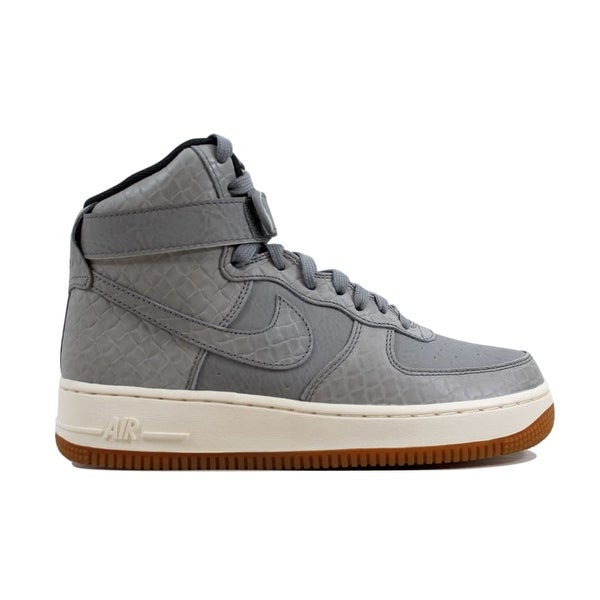 Nike Women's Air Force 1 Hi Premium Wolf Grey/Wolf Grey 654440 by Nike