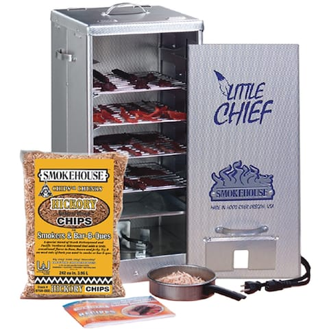 Smokehouse 9900-000-000 Front Loading Little Chief Home Electric Smoker - Aluminum
